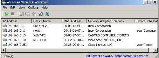 Wireless Network Watcher 1.57