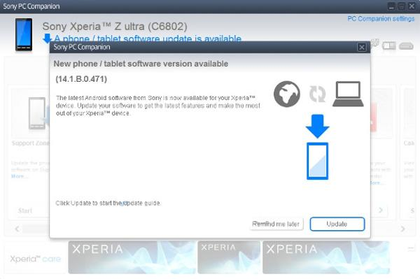 Sony Xperia Z Ultra gets its first update