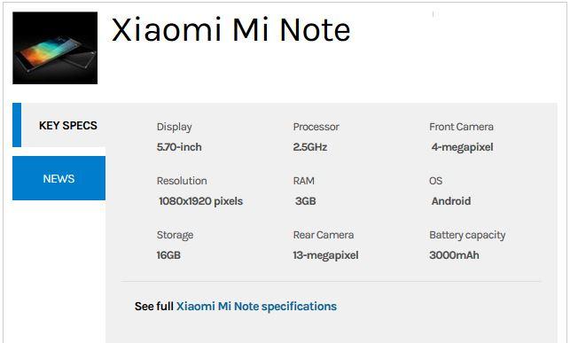 Xiami-Mi-Note-Specs